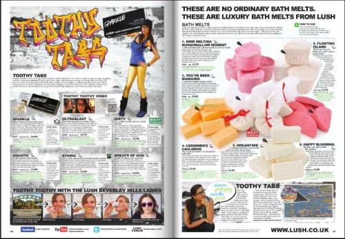 "The newest issue of the LUSH Times UK has just come out. It features yours truly, and the badass ladies from the ""Toothy Toothy"" video! Check it out: https://www.lush.co.uk/lush-times"