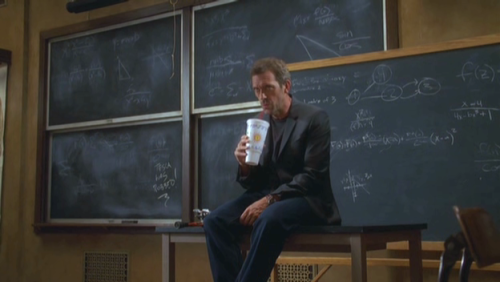 "I love that on the blackboard there is written ""Tesla was robbed!"""