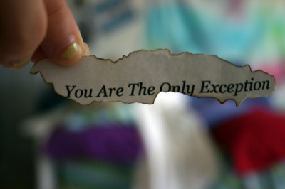 darling, you are the only the exception! (8)
