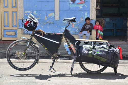 Xtracycle Surly Big Dummy bicycle tour Puela Ecuador