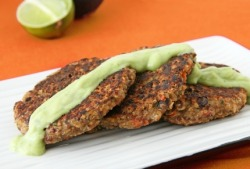 bebetterbody:  Quinoa Patties with Avocado Sauce (click photo for recipe)