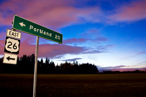 Portland, 20 Miles by me. Shot on January 4th at dusk in North Plains, OR.