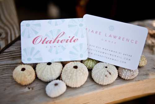 Excited to share with you my newest business card design for OTAHEITE HAWAII. An upcoming clothing boutique on Maui. Design features original illustrations.
