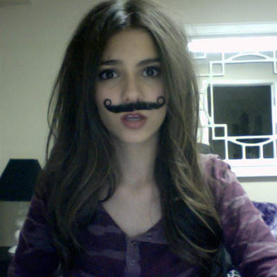 A mustache and a girl… A perfect combination!