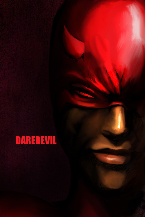 Izabela Bratkowski's Daredevil  Belated. And so so, but done at work. And done :p