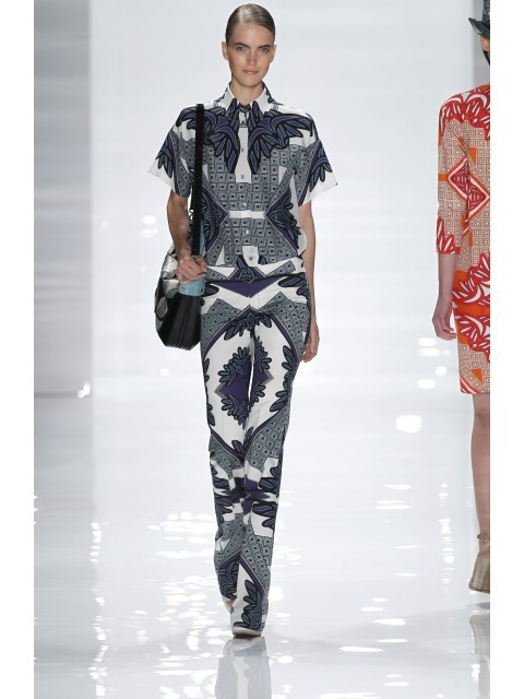 fashiondailymag:  the patterned PANTS… from derek lam ss12 collection, ph derek lam