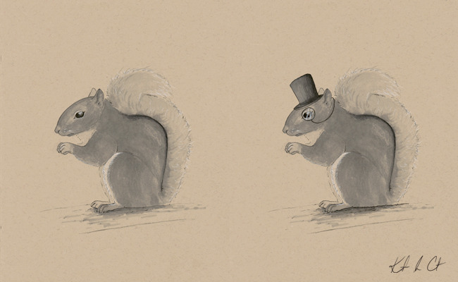 Snappy Squirrel Buy the original! http://www.etsy.com/shop/Randemporium  (Pen and marker)