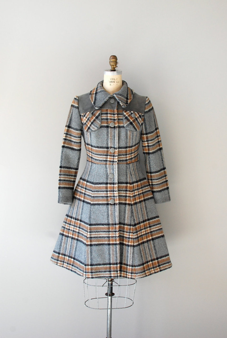 modcloth:  The perfect vintage plaid coat via Dear Golden.