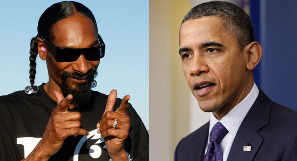 """Snoop Dogg to W.H.: Legalize pot"" Lots of celebrities want to meet the president and they often come  with their own pet requests: Sign this or that, take a picture with my  kid, how can I steal a hand towel from a White House bathroom? But Snoop Dogg wants something different. The rapper (real name: Calvin Broadus) has been a longtime advocate for the legalization of marijuana (and a frequent user of it) and spoke to Hot 99.5's Toby Knapp about the subject and how he might convince President Barack Obama to support a change in the country's drug laws. ____________________ No offense, but I think someone other than Snoop would make a better marijuana advocate."