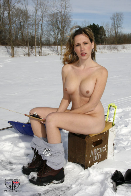 naked ice fishing