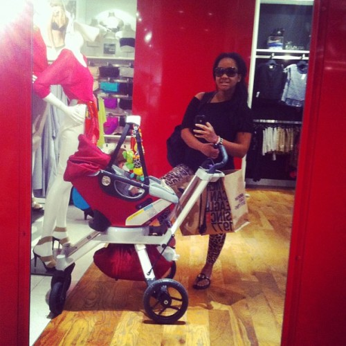 #hotmama out shopping with #babybear 😍☺❤🚼🐻 #obritg2 #orbit #orbitstroller (Taken with instagram)