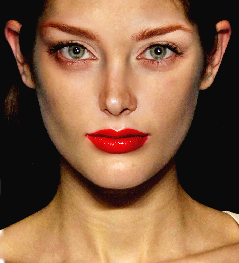 Base: Catherine McNeil Eyes: Alyssa Taylor Nose: Alessandra Ambrosio Mouth: Sui He