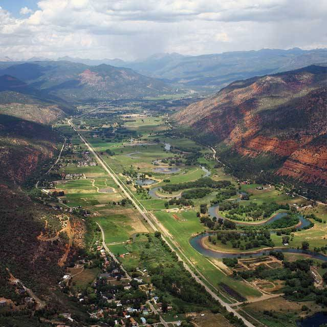 Animas River Valley.Colorado