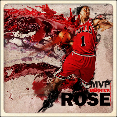as I'm watching the Bulls game, I couldn't help but to post the DERRICK ROSE!!!  I don't care what anyone says, he is an INCREDIBLY TALENTED player!!!  Brought his team to the playoffs every year since his rookie season, Rookie of the Year Award, and 2010-2011 Season MVP Award!!  Only a matter of time until he brings my Bulls to the Finals along with a ring!! ;)
