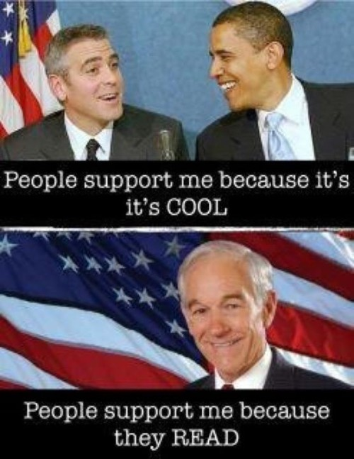Voting because it's cool vs. Voting because you can read #RonPaul #Election #2012 #Obama #meme