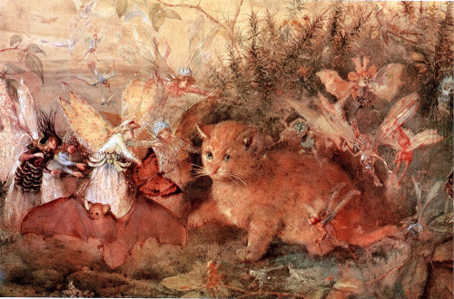 Cat Among the Fairies – John Anster Fitzgerald (c.1819–1906)