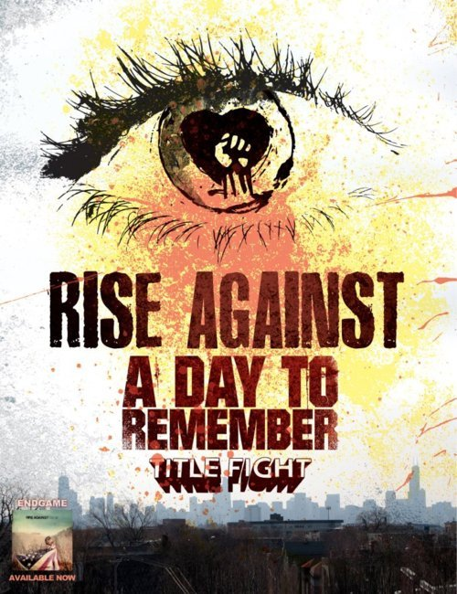 Rise Against and A Day To Remember have announced the second leg of their spring tour. Title Fight will be opening (April 15th-May 10th). To check out all the tour dates (including the first leg of the tour with The Menzingers opening), head over to riseagainst.com or adtr.com.