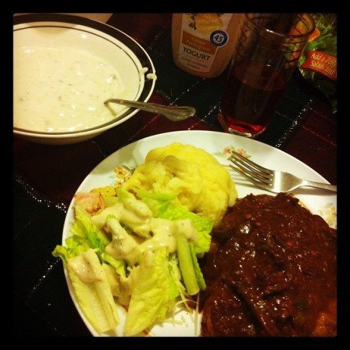 #dinner is served 😄 (Taken with instagram)