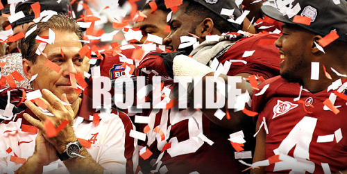 In honor of tomorrow… can I get a Roll Tide?