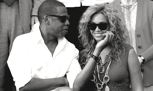 I kinda love this photo of Beyonce & Jay-Z