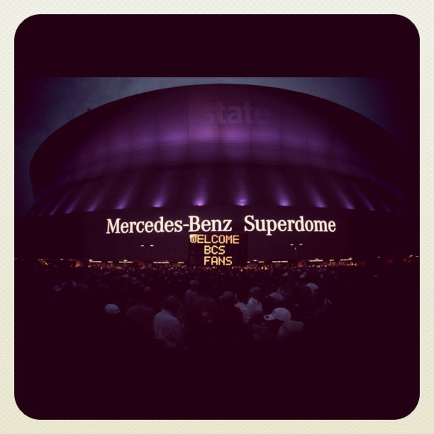 #bcs #football #sports #lsu #alabama #neworleans #stadiums #superdome #fans (Taken with instagram)