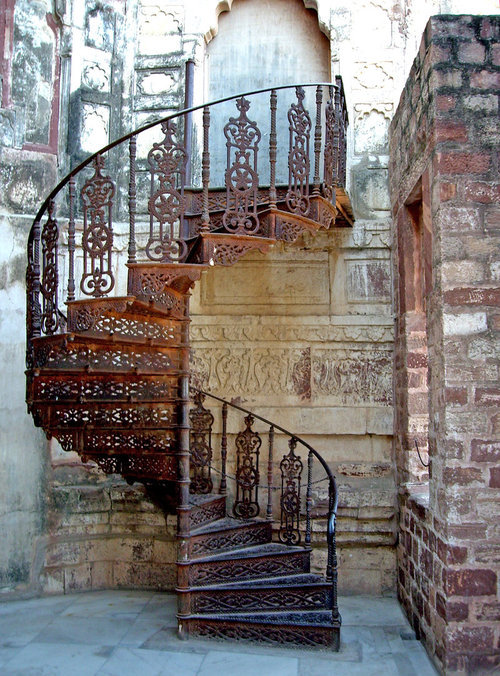 Spiral Staircase, Burgundy, France photo via cluttered
