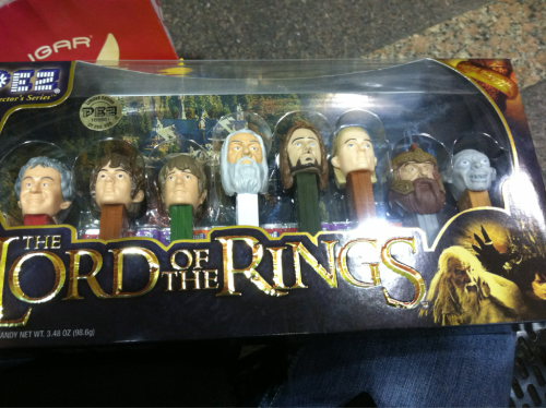 labec99:  What is that, you ask? Why it's a limited edition Lord of the Rings pez dispenser set. Yes. I'm a huge nerd. If there was any doubt left about that.