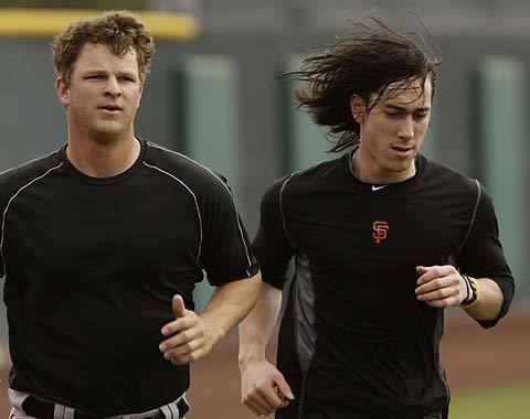 I hope to see a lot more of this in the 2012 season: Tim's epic running hair.