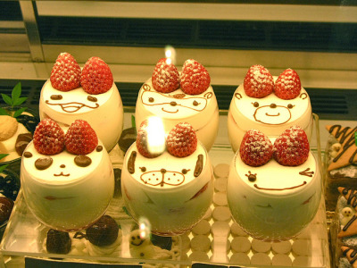 ileftmyheartintokyo:  Kawaii milk pudding treats by Amy in Japan! on Flickr.