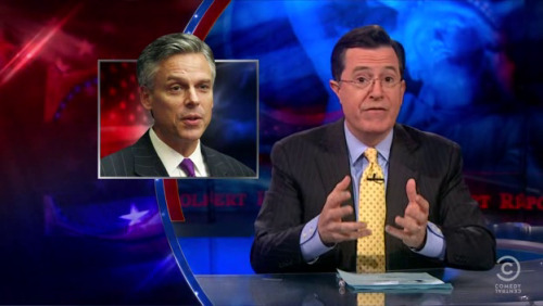 sexmahoney:  Great Moments in Freeze Frame #815—The Colbert Report  HEY HEY NEW HAMPSHIRE, DON'T LET ME DOWN TODAY.  GO GO GO. (I love acting like I care when I'm obvs not voting Republican.  I think I'm more in love with election cycles than with the majority of all candidates (from either party), which explains a lot.  Hmm.)