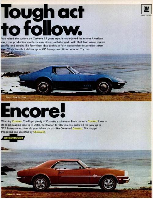 1968 Chevrolet Corvette and Chevrolet Camaro