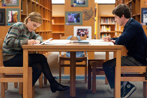 totalfilm:   First images of Emma Watson in The Perks Of Being A Wallflower  Summit Entertainment has released a new batch of official images to promote its 2012 lineup, most interesting of which is the set of stills promoting Emma Watson's post-Potter breakout movie, The Perks Of Being A Wallflower…