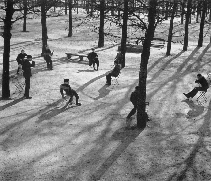 André Kertész, Tulieres gardens, Paris, 1928. Thank you, wonderfulambiguity.