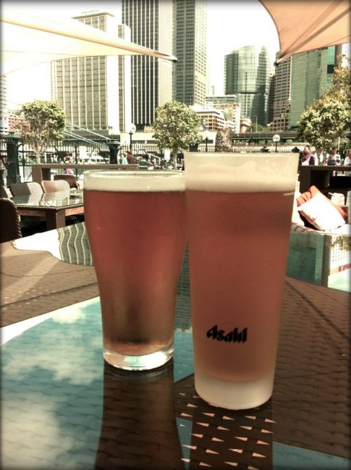 beer o' clock at Cruise Bar. Summer has finally arrived in Sydney!