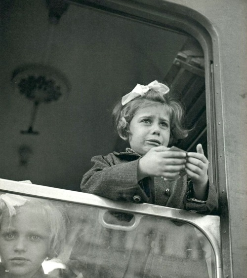 Werner Bischof Girl at the train window, Budapest, Hungary, 1947