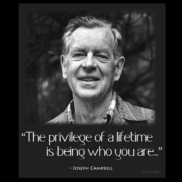 It is… #josephcampbell #inspiration #lawofattraction #inspiration #quote (Taken with Instagram at San Mateo)