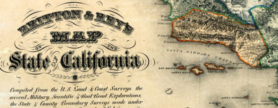 Map: Goddard's Map Of The State Of California (1857) originally posted to the BIG Map Blog.