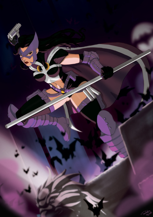 dcplanet:  The Huntress Art by Tovio Rogers