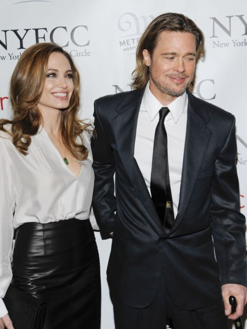Angelina Jolie & Brad Pitt @ 2011 New York Film Critics Circle Awards at Crimson in New York City - January 9, 2012.