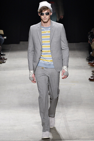 we're going crazy for cut suits and college stripes.  thanks to Scott Sternberg of Band of Outsiders.