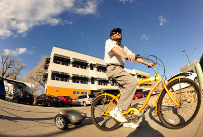 These bikes will make you look silly, but you'll also be pushed at 12-19mph on a single charge. Deal with it.