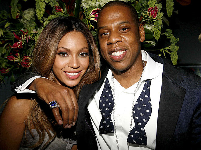 """We are in heaven."" New parents Beyoncé and Jay-Z, sharing the joy of their ""beautiful daughter,"" Blue Ivy Carter, in a joint statement"
