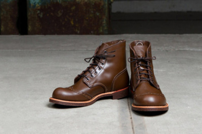 "Red Wing 2012 Fall 6"" Brogue Rangers Preview Red Wing has released a preview of a new footwear style for Fall 2012 coming in the form of the 6"" Brogue Rangers. Initially designed for use when crossing wetlands and bogs with functional details to withstand the elements, the boots are made from sturdy Chaparral premium leathers in antique brown or black colorway. The upper portion employs familiar brogue detailing with several contrast stitches and tonal stitches, while a Goodyear welt construction and nitrile cork outsole round out the design. This new style will be on sale in Europe and North America starting the latter half of 2012."