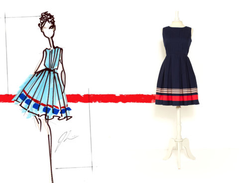 "targetstyle:  ""Great designs always start with a sketch."" -Jason Wu The Jason Wu for Target Poplin from sketch to dress"