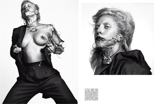 Lady Gaga, from the new issue of Vogue Italia.