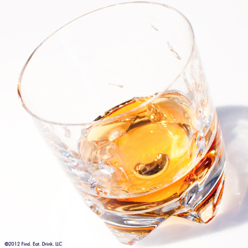 A whiskey tumbler with both form and function. Clearly Art's hand-blown crystal glass is so perfectly balanced that it spins like a roulette wheel. See for yourself right here.