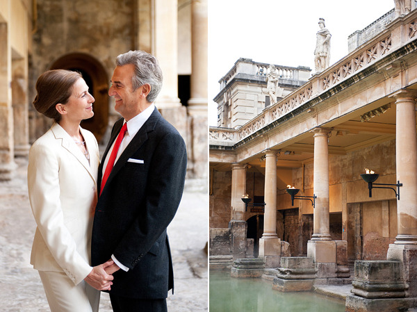 Real Wedding: Sarah & Chris :: Snippet & Ink Lovely wedding at the Roman baths.