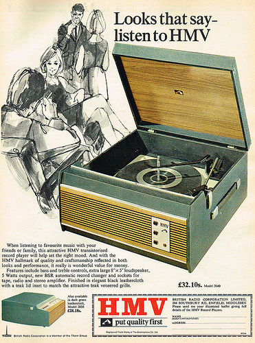 Vintage Record Player Adverts