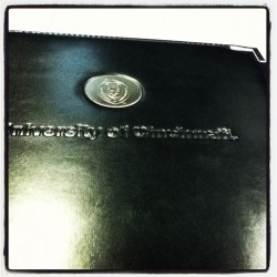 I won this pretty nice uc portfolio from c. business (Taken with instagram)