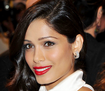 CELEBRITY: Freida Pinto at the 2011 MET Ball.